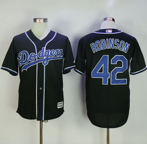 sneakers for cheap 6ad28 896cd Dodgers #42 Jackie Robinson Black Fashion Stitched MLB Jersey sold by  Jersey24sport