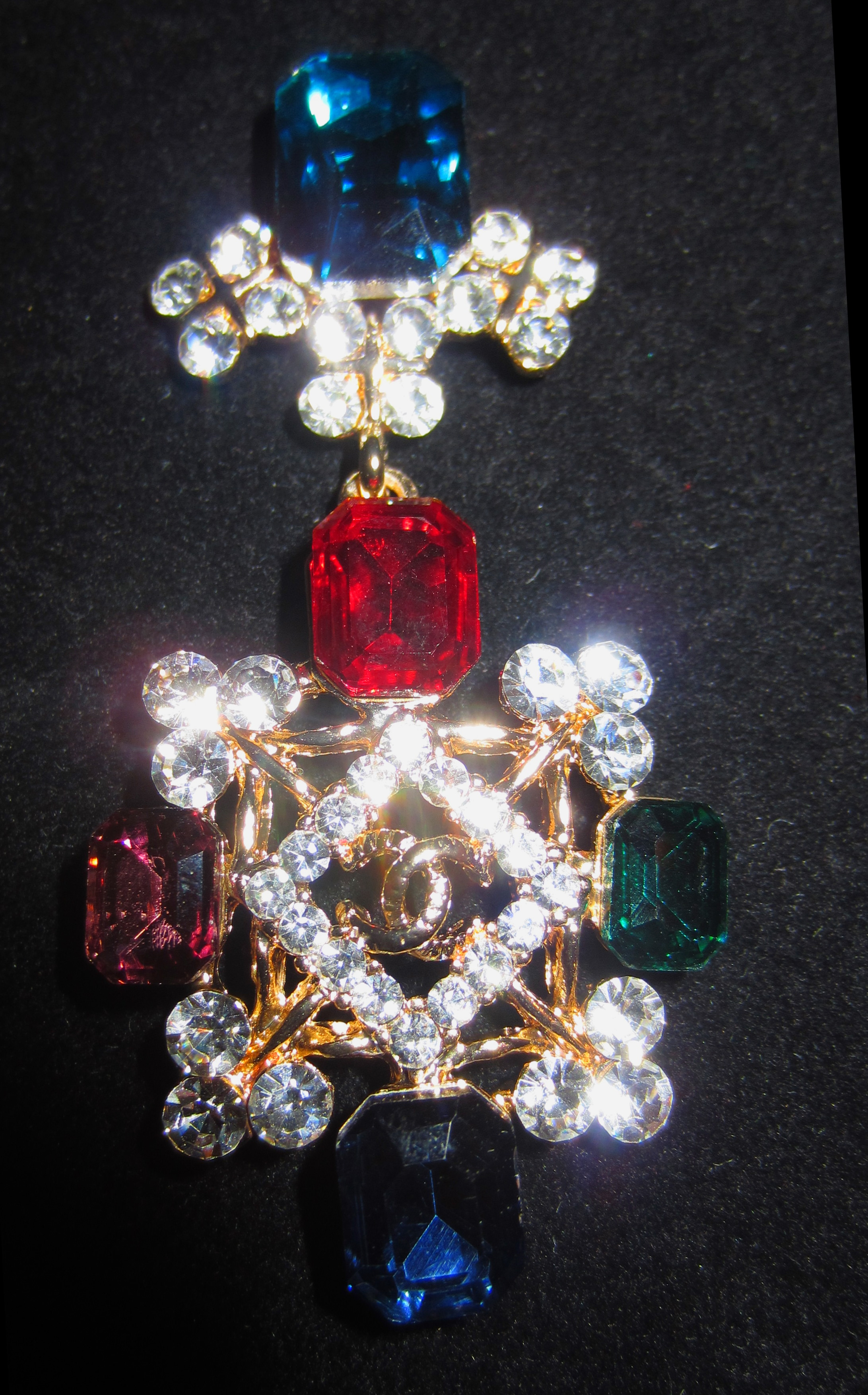 Chanel chandelier dangle emerald ruby cc crystal earrings on storenvy cccc1small arubaitofo Gallery