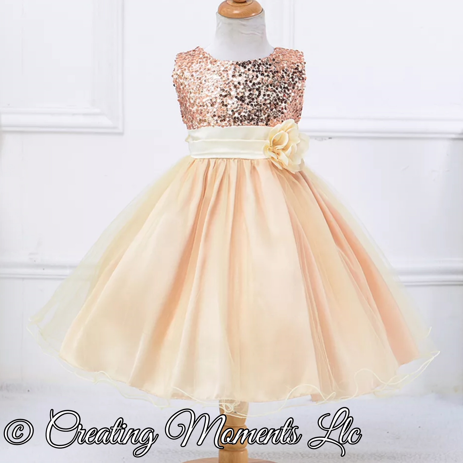 e1d49e8b0589 Glitter sequin flower girl wedding dress. Pageant Gown. Tutu gown ...