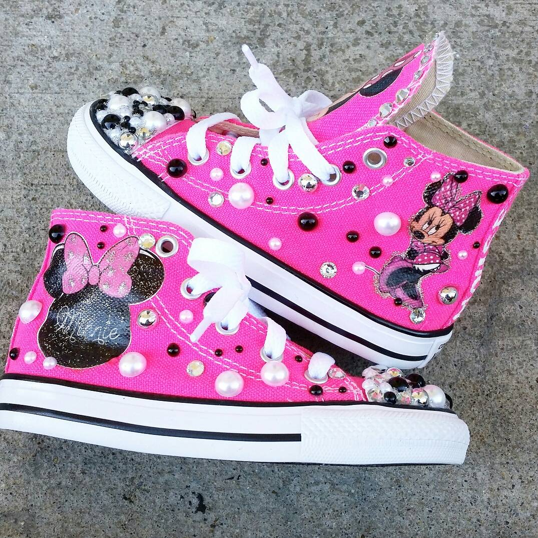 352dd3109d59 Custom Minnie Mouse Converse on Storenvy