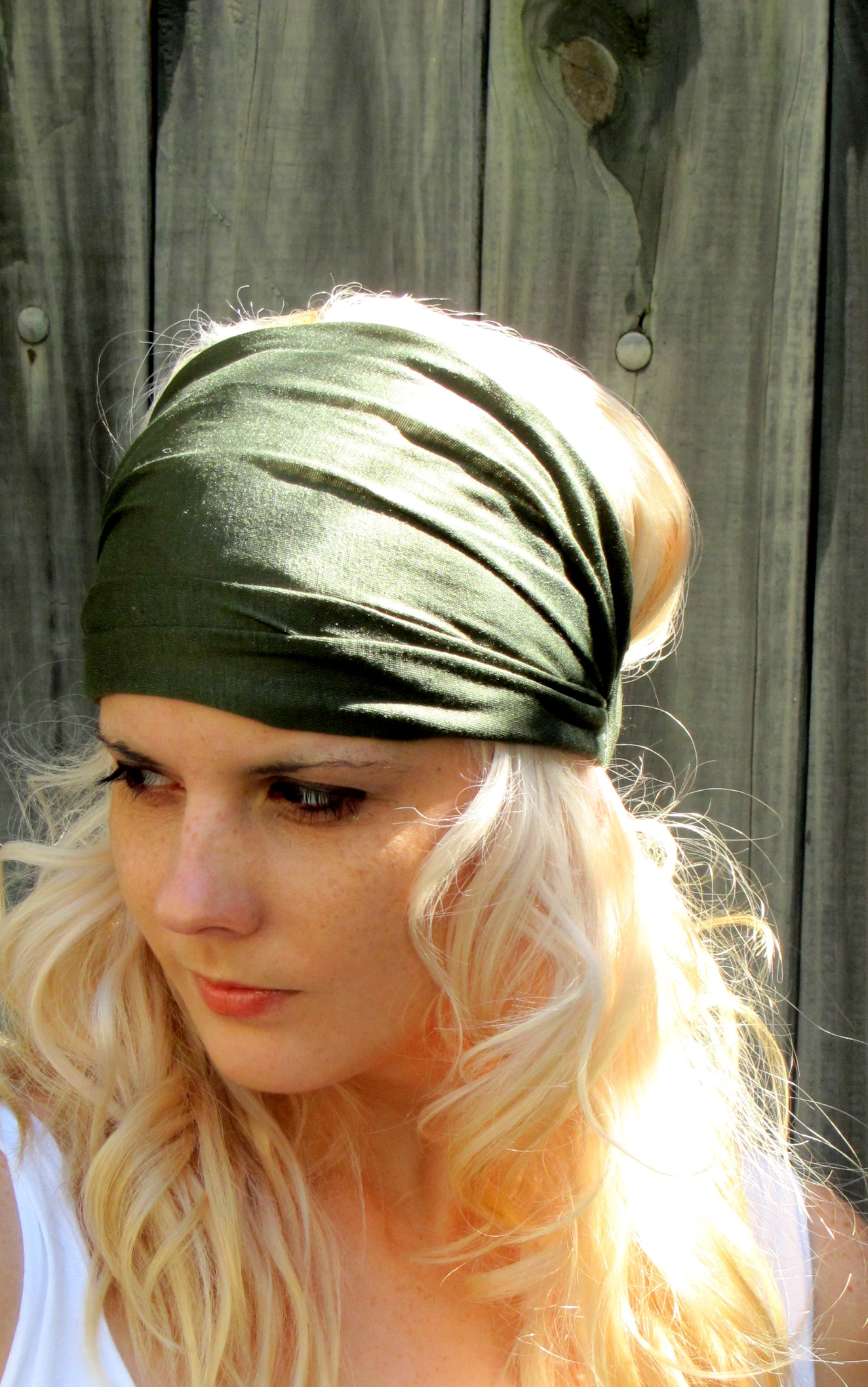 Cotton Stretchy Jersey Yoga Headband Wide Women s Turban Headband 7abee3687ce