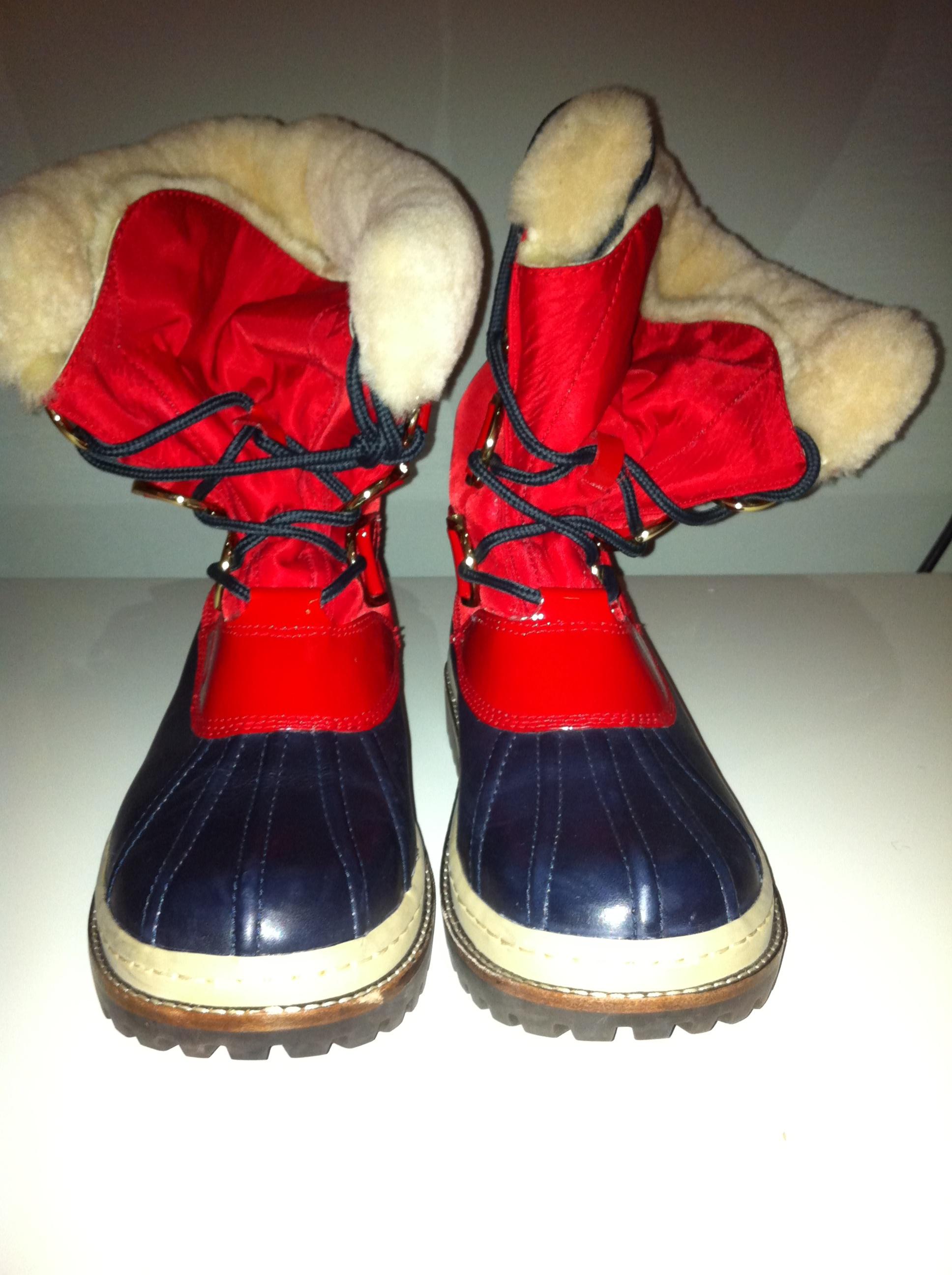 3fda19276326 ... get tory burch red navy duck boot7.5 3cca2 01d0d