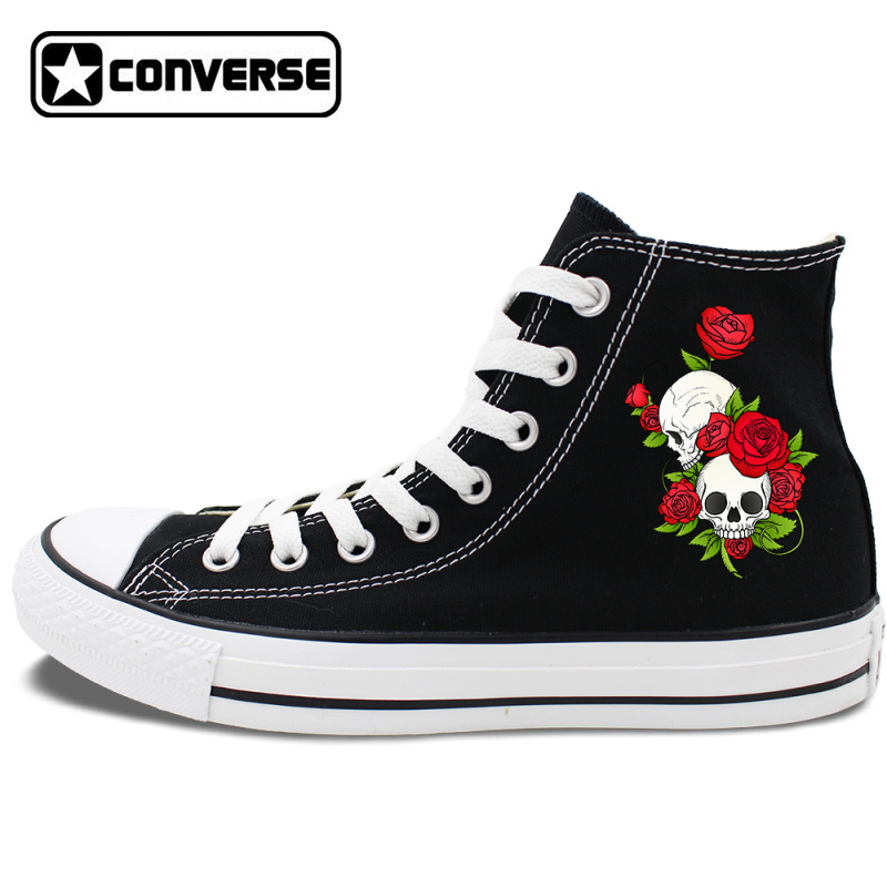 Rose Flower Canvas Sneakers sold