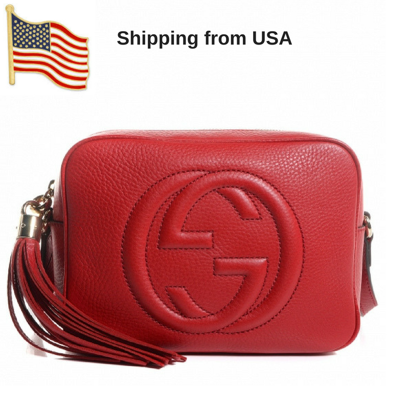 f02c440b742e GUCCI Calfskin Soho Disco Bag Red · Wanna this bag ? · Online Store ...