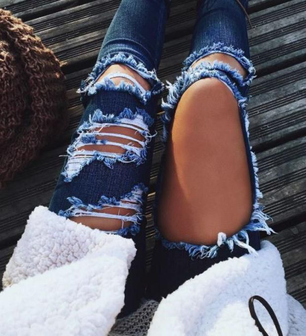 detailed pictures a great variety of models latest style Jeans women high waist Ripped jeans Skinny Hole Denim Pants from clothing