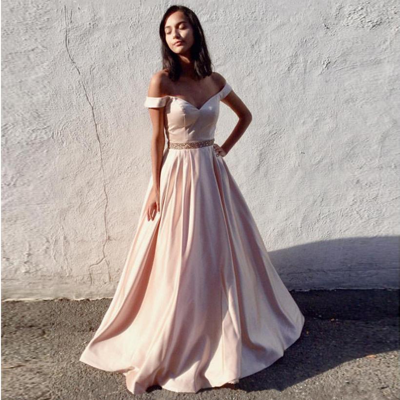 Off-The-Shoulder Prom Dress