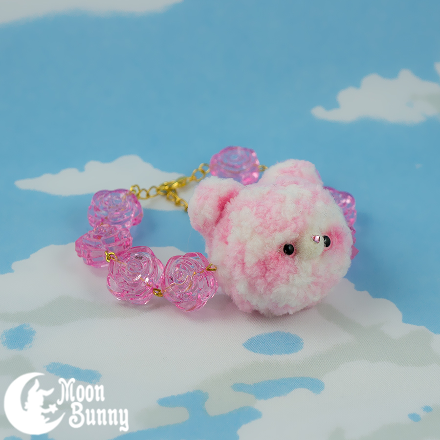 Fluffy Baby Garden Bracelet Sweet Lolita Fashion Pink Plush