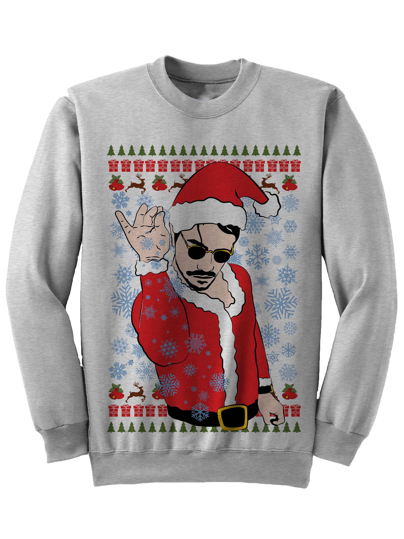 salt 20bae 20christmas 20grey small - White Christmas Sweater