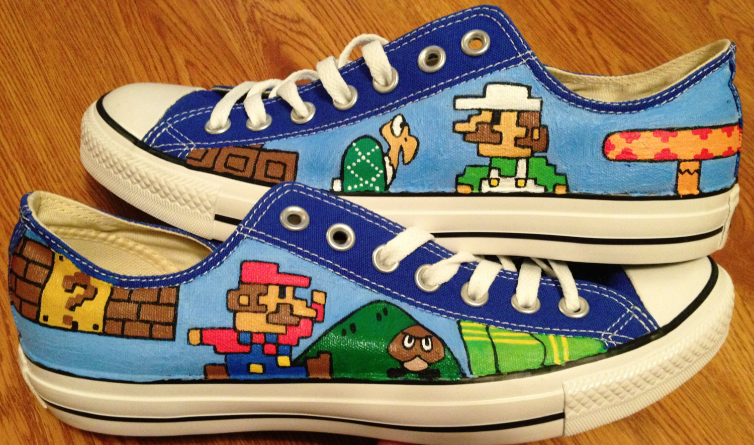 415874f0851496 Mario   Luigi Hand Painted Converse Shoes on Storenvy
