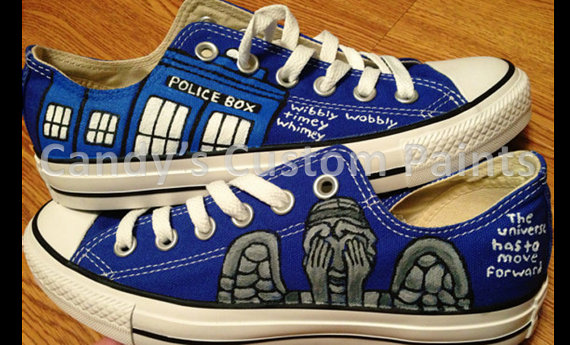 638cf66eab47 Dr. Who Custom Hand Painted Converse Shoes on Storenvy