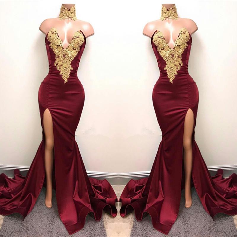 Sexy Prom Dress Burgundy