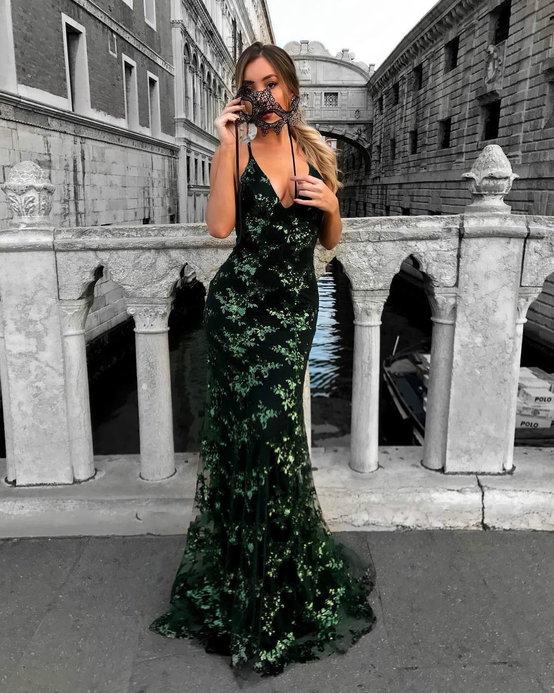 Mermaid Strap Prom Dress