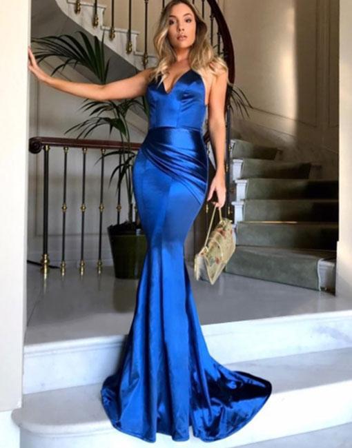 Royal Blue Mermaid Dress