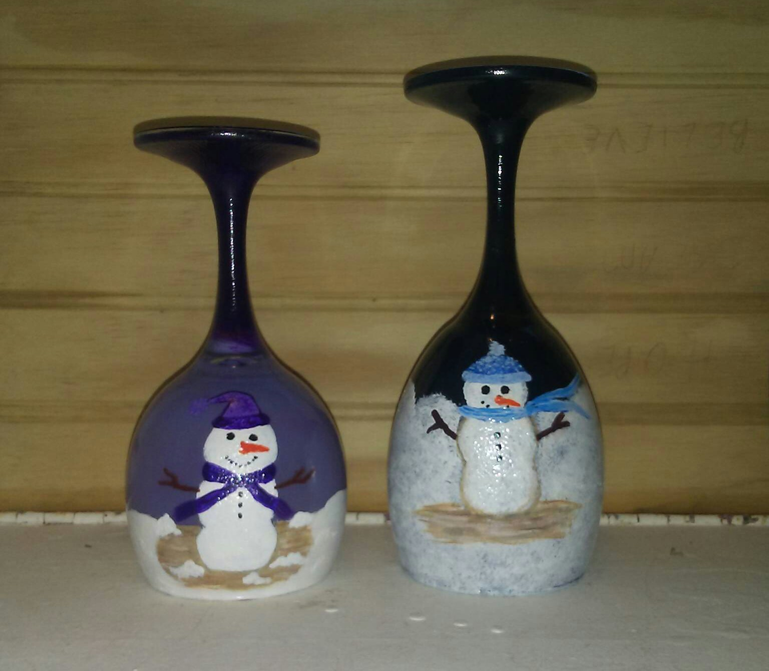 Hand Painted Wine Glass Candle Holders Eclectic Crafts Creations Online Store Powered By Storenvy