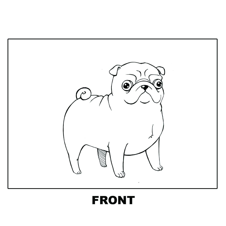 Doodle Dog Postcard PUG from Doodler Doodads