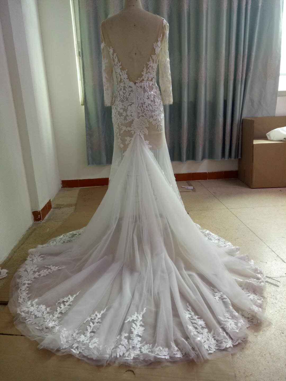 55d37c767ffa2 Berta Inspired Long Sleeve Wedding Dress from Darius Cordell - Thumbnail 1  ...