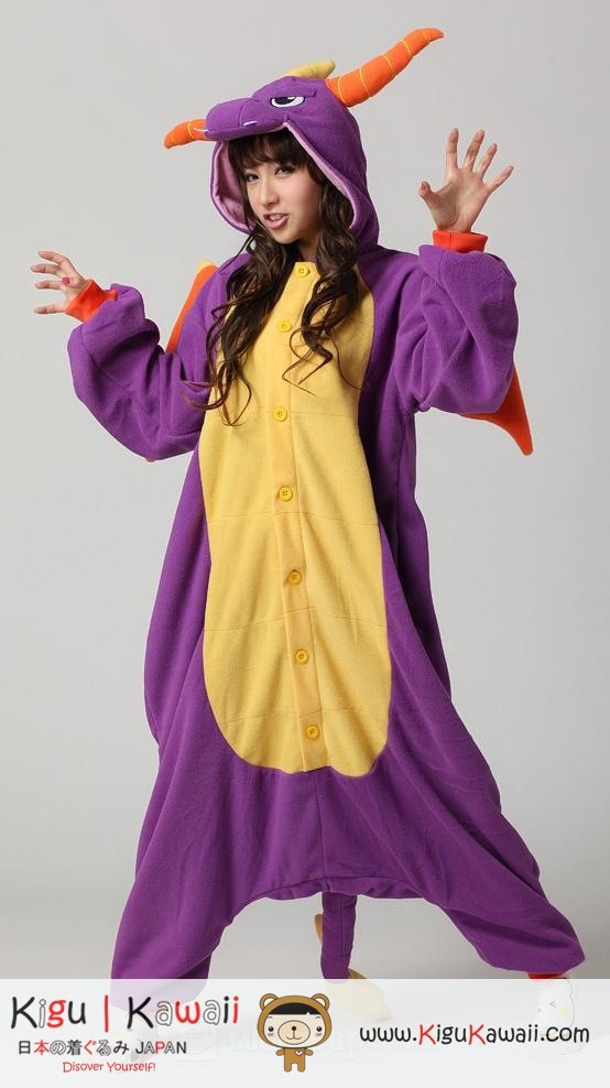 Royal Purple Spyro Dragon Character Adult Kigurumi Onesie