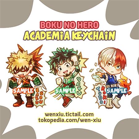 Boku No Hero Academia Keychain Deku Midoriya Bakugou Todoroki