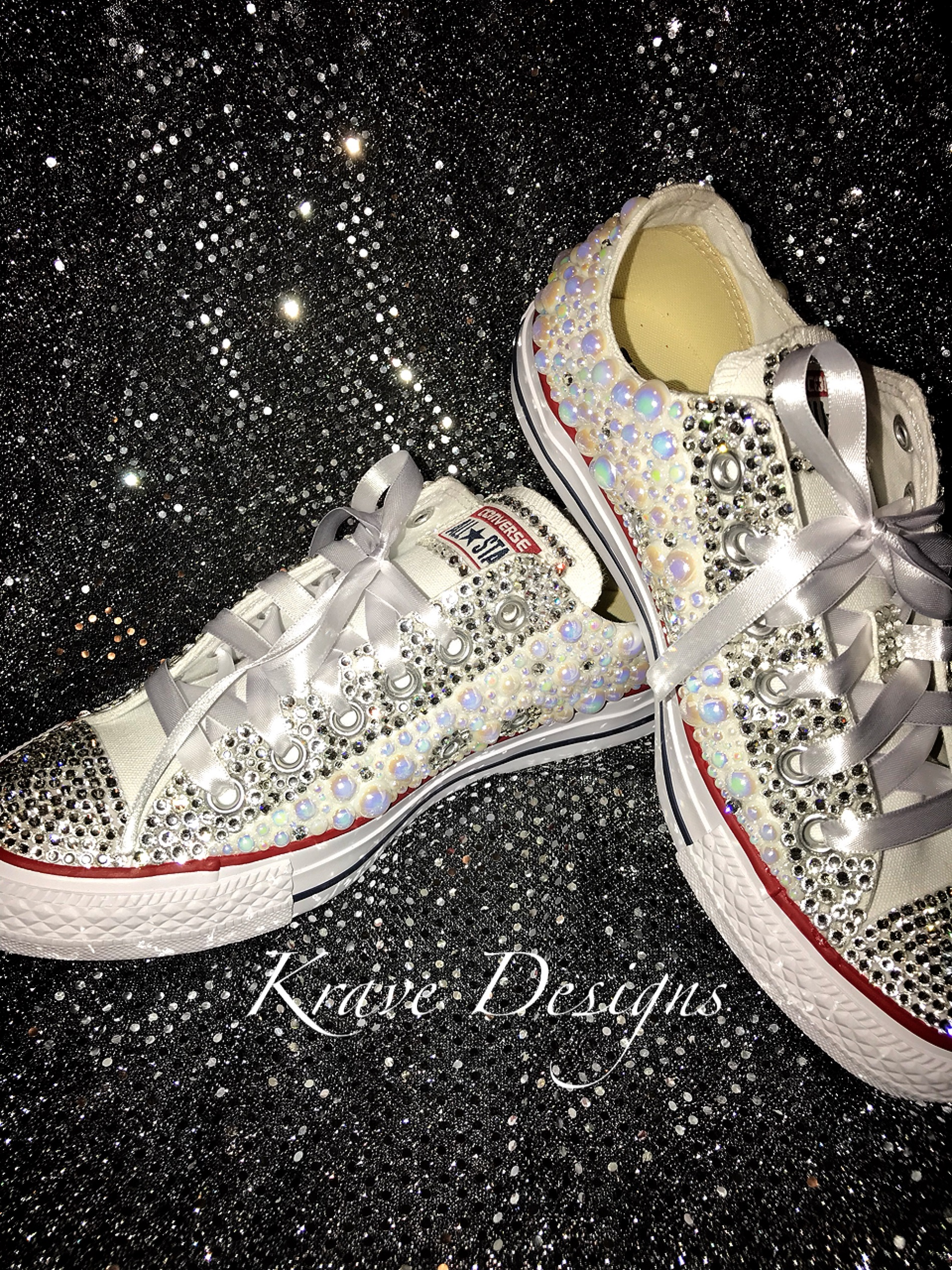 b0f68aa68c657d Adult Bling Chuck Taylor Lo-Top Shoes