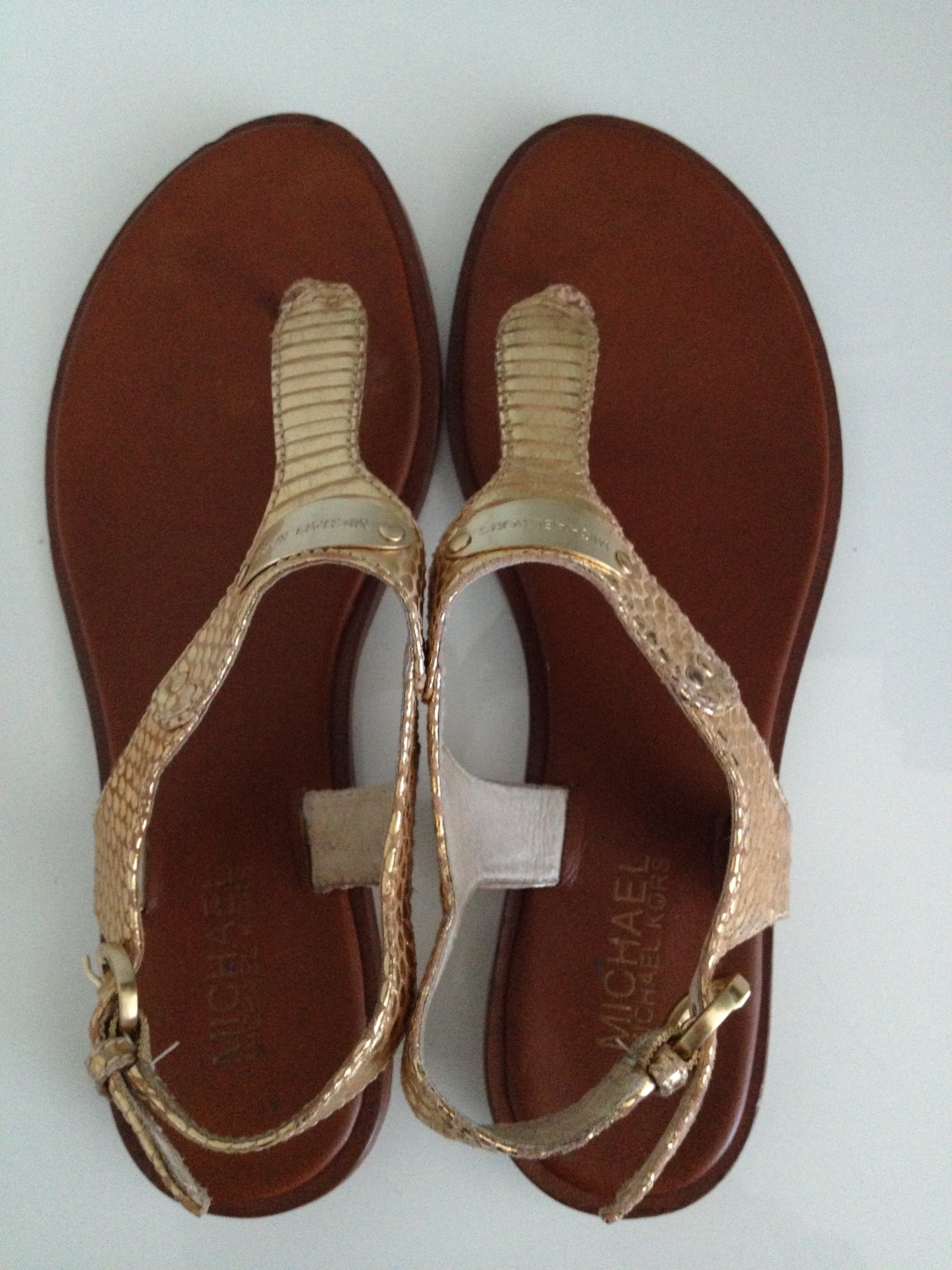 9f209e43e355 Buy michael kors gold sandals   OFF40% Discounted