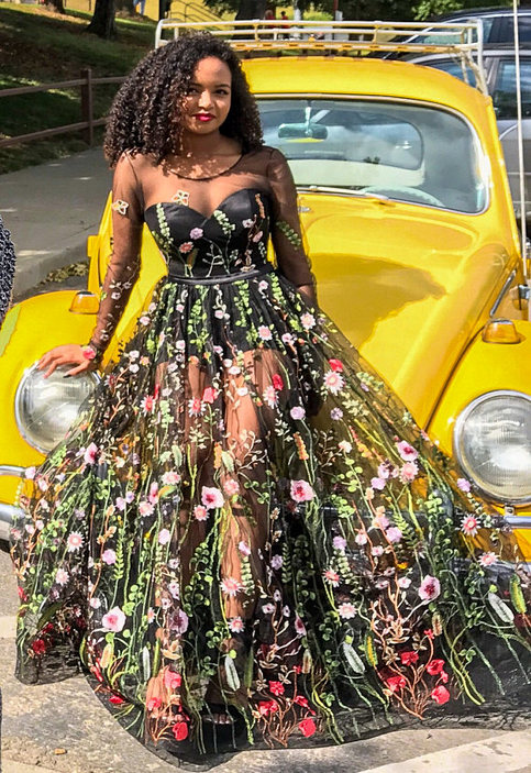 Embroidered Formal Dress Floral Maxi Dress Evening Dress Prom Dress Floral Dress Long Evening