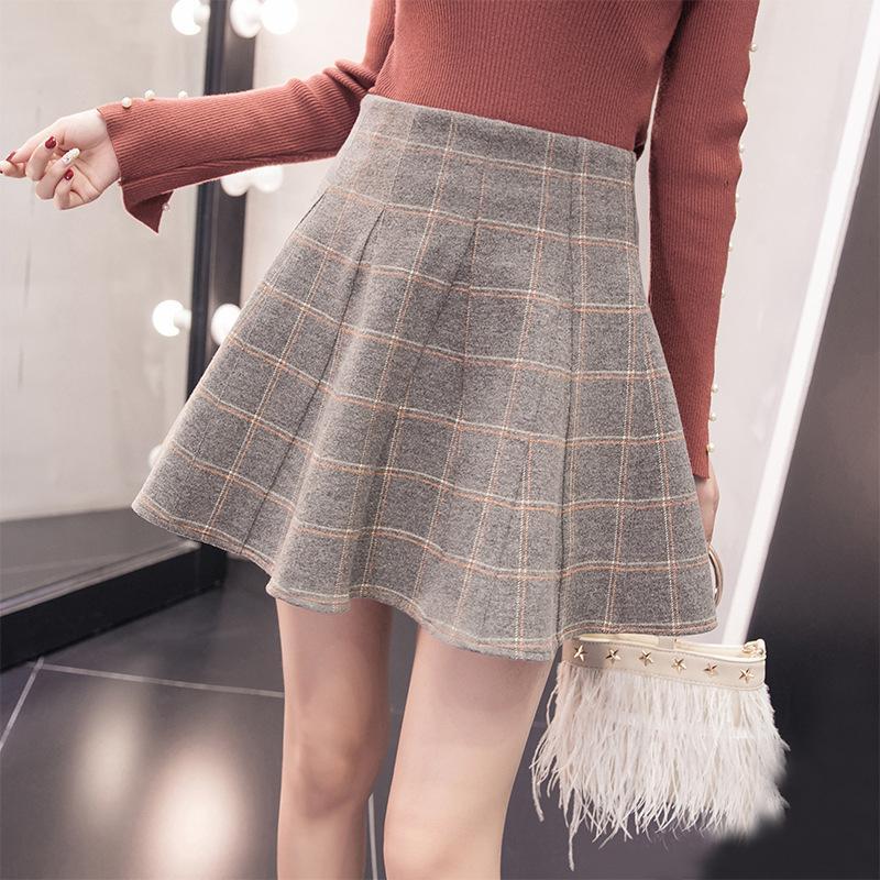 e963f1c2a569 FREE Shipping Cute High Waist Plaid Pleated Skirt on Storenvy