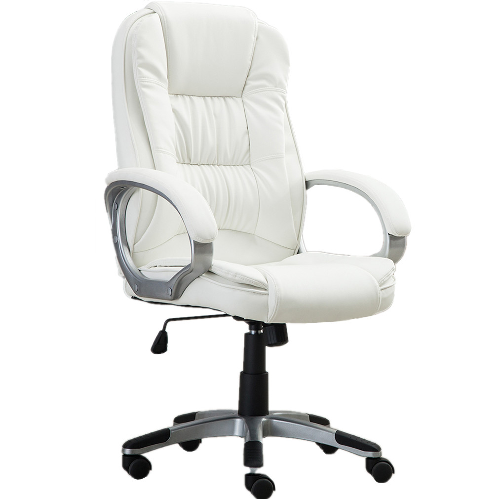 Miraculous White High Back Pu Leather Office Chair Executive Task Ergonomic Computer Desk Gmtry Best Dining Table And Chair Ideas Images Gmtryco