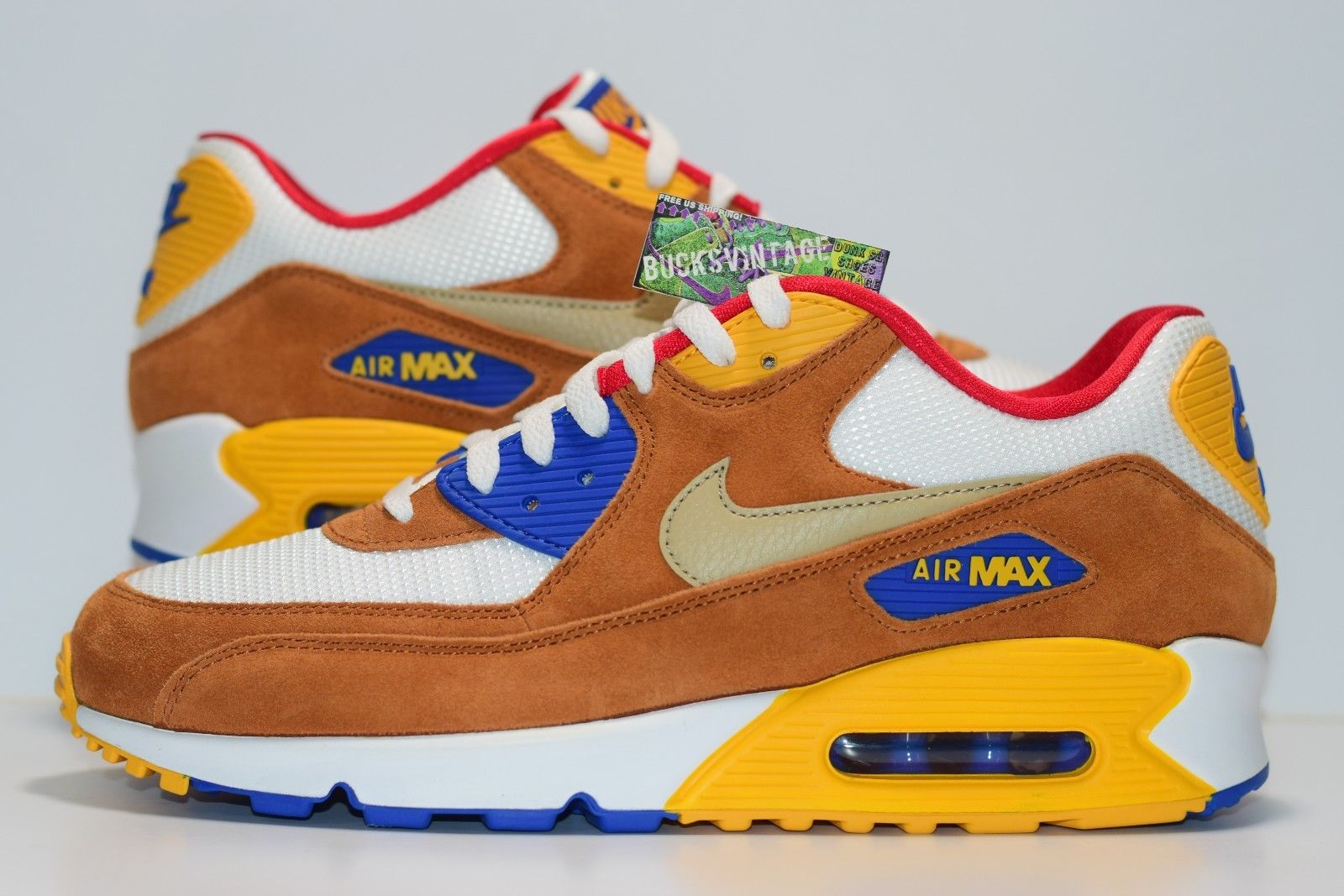 the latest f0210 63322 Size 10.5 | DS 2015 Nike Air Max 90 CURRY Premium 700155-107 sold by  BucksVintage