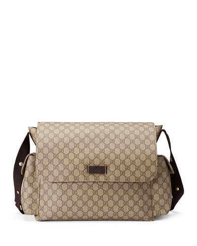 9333aac8535 Gucci Guccissima Faux-Leather Diaper Bag w  Changing Pad ...