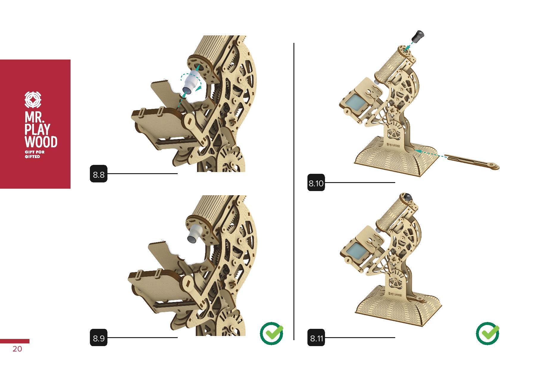 3D Mechanical Puzzle HARVESTER, wooden construction kit