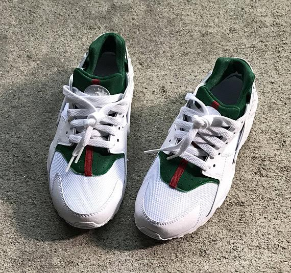 reputable site 489c3 4f52c Gucci Inspired Custom Nike Air Huaraches