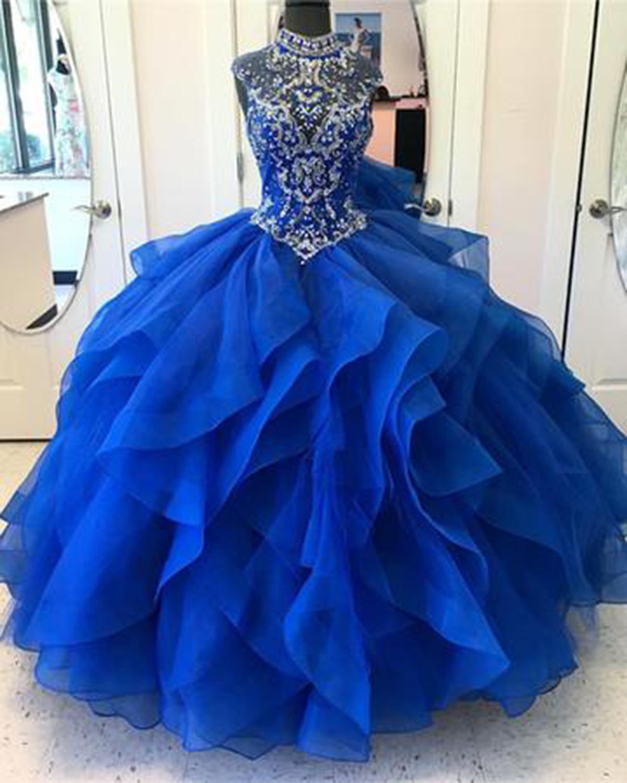 Royal Blue Princess Gowns