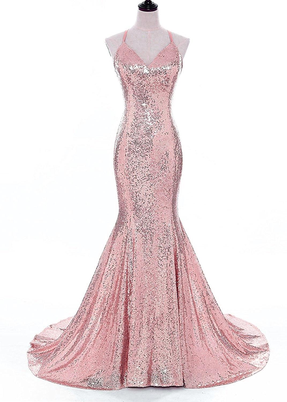 5f036e80d5ac Charming Mermaid Prom Dress, Elegant Sequins Evening Dress, Long Prom Dress,  Formal Gown