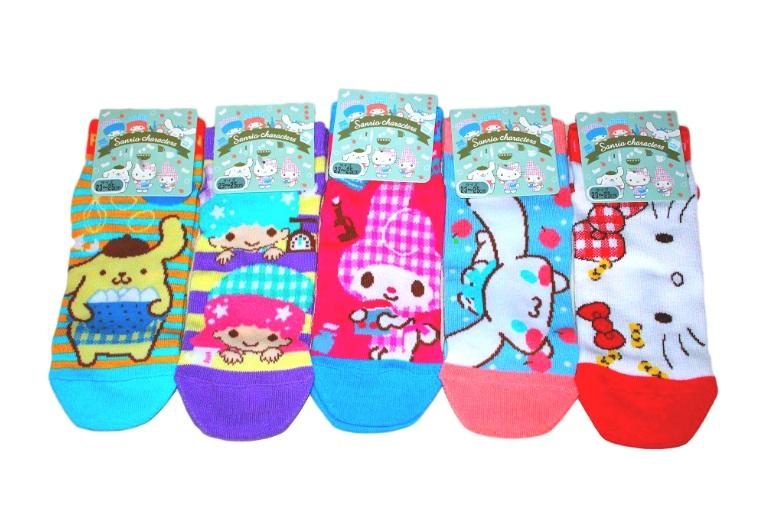2f8b716cd Sanrio Character Socks Women (Pompompurin, Hello Kitty, My Melody,  Cinnamoroll, Little