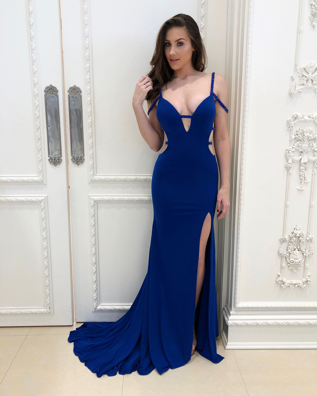 b074c40a6d3 Sexy Prom Dress Royal Blue Prom Dresses Mermaid Open Back Evening Dress  Formal Dress on Storenvy