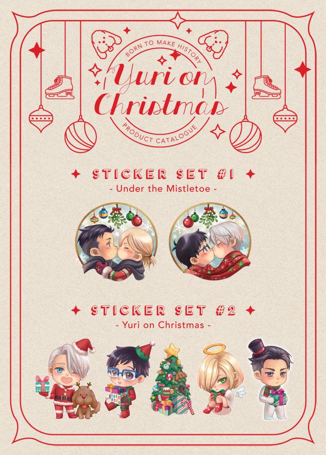 CLEARANCE SALE] Yuri on Ice - Yuri on Christmas sticker on Storenvy