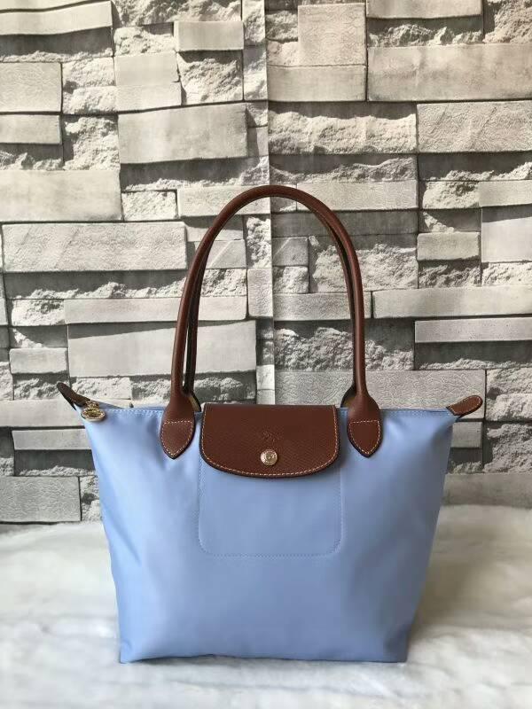 57e29a3312 France Made Auth Longchamp Le Pliage Nylon Small Tote Bag Light Blue  2605089A30 Free shipping on Storenvy