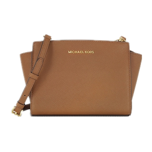 2714cd72920 MICHAEL KORS Selma Medium Messenger Crossbody Bag Luggage Authentic on  Storenvy