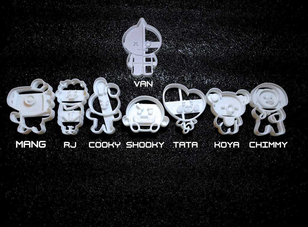 BT21 BTS Kpop Inspired Cookie Cutters Tata Mang Shooky Cooky RJ Chimmy Koya on Storenvy