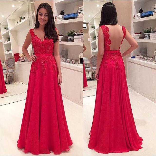62e9300d03b45 Cheap Custom Red Formal Evening Dresses Backless, Chiffon Long Dresses  Evening from Hellerdress