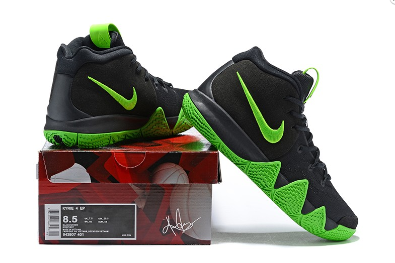 the best attitude 05d01 1fe98 Cheap 2018 Nike Kyrie 4 Black and Green For Sale Mens Basketball Shoe on  Storenvy