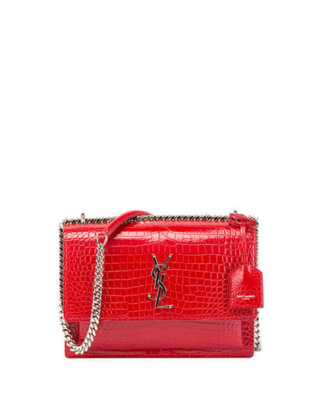 9a39c054a70 Saint Laurent Sunset Red Medium Crocodile-Embossed Crossbody Bag · WorkHut  · Online Store Powered by Storenvy