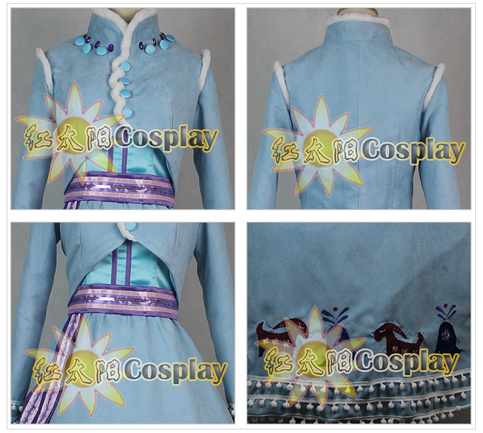 Olaf's Frozen Adventure cosplay costume Fancy Dress Halloween Anna