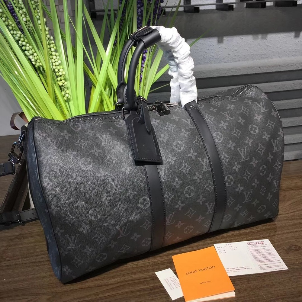 a031ecf88336 LOUIS VUITTON Monogram Eclipse Canvas Keepall 55 Bandouliere Bag · Wanna  this bag ? · Online Store Powered by Storenvy