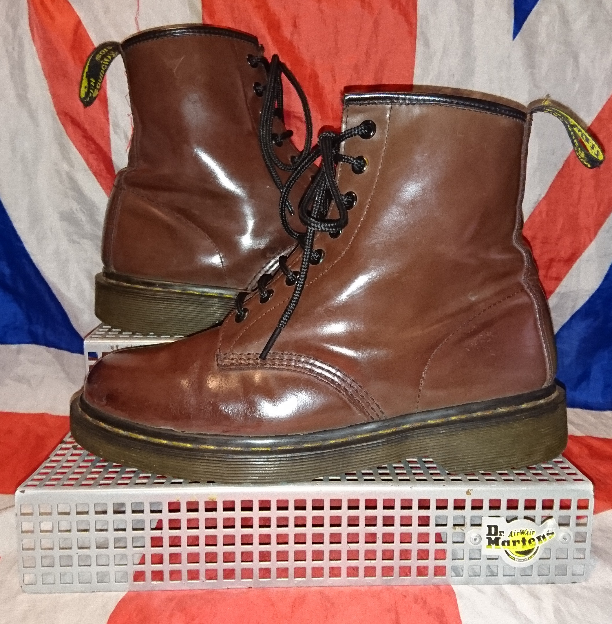 c2d02efaa1704 RARE 1460 Milled Chocolate Brown Leather Dr Doc Martens - UK 7 EU 41 ...