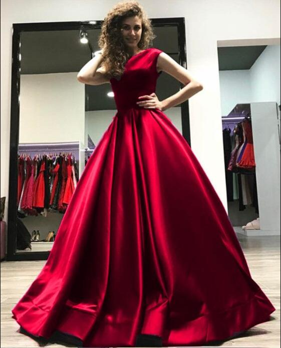 Prom Dress,Burgundy Evening Gowns,Wine Red Prom Dress,Long ...