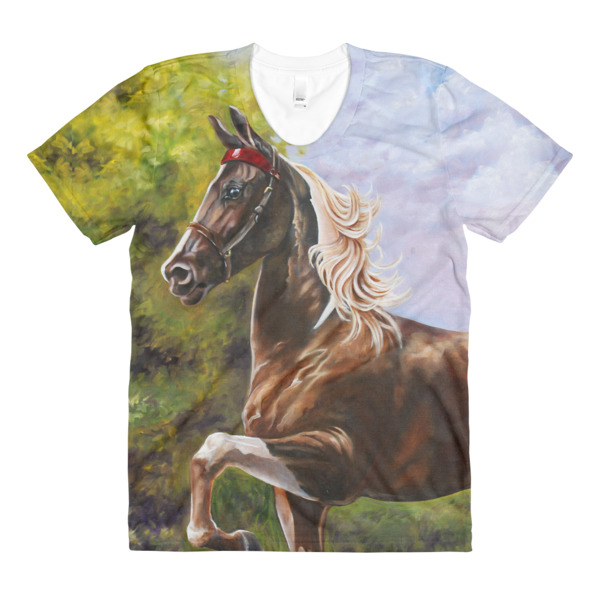 ad80e65c Sublimation women's crew neck Saddlebred t-shirt · Hartsafire Attire ...
