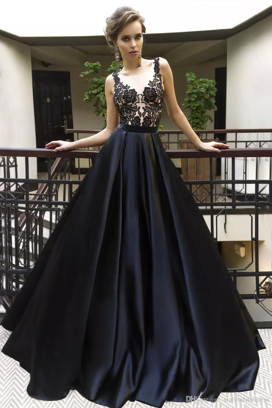 Black Prom Dress 2018,Prom Dresses,Evening Gown, Graduation Party ...
