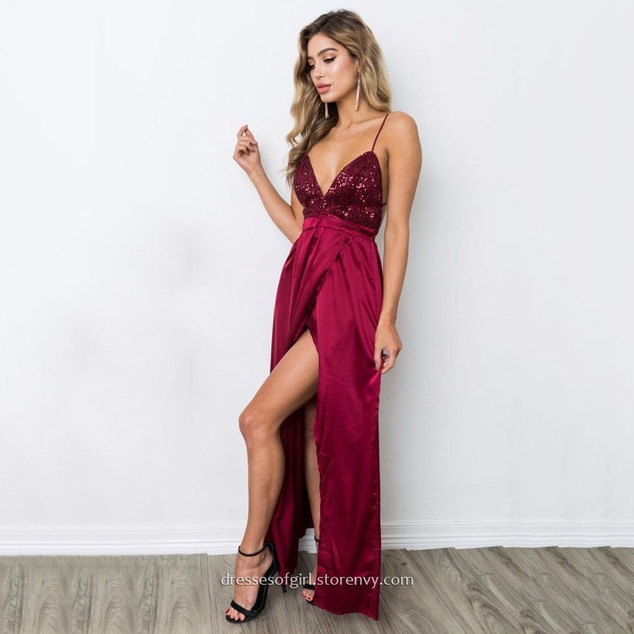 fe2d53ead32f Long Prom Dresses,Sheath/Column V-neck Formal Dresses,Ankle ...