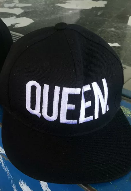 3cd3a62aec590 Black and White Queen snapback hat · FashionRack20 · Online Store ...